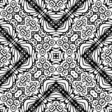 Черно-белая безшовная повторяя картина вектора Стоковые Фотографии RF