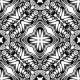 Черно-белая безшовная повторяя картина вектора Стоковое Изображение