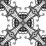 Черно-белая безшовная повторяя картина вектора Стоковые Фото