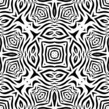 Черно-белая безшовная повторяя картина вектора Стоковые Изображения RF
