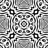 Черно-белая безшовная повторяя картина вектора Стоковое фото RF