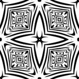 Черно-белая безшовная повторяя картина вектора Стоковая Фотография RF