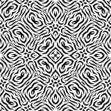 Черно-белая безшовная повторяя картина вектора Стоковая Фотография