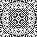 Черно-белая безшовная повторяя картина вектора Стоковые Изображения