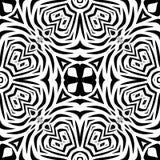 Черно-белая безшовная повторяя картина вектора Стоковое Изображение RF