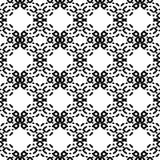 Черно-белая безшовная этническая картина Стоковое Изображение RF