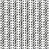 Черно-белая безшовная этническая картина Стоковое Изображение