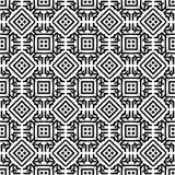 Черно-белая безшовная этническая картина Стоковые Фото