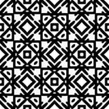 Черно-белая безшовная этническая картина Стоковые Фотографии RF