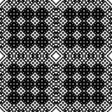 Черно-белая безшовная этническая картина Стоковые Изображения
