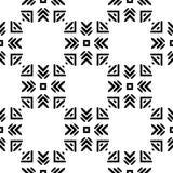 Черно-белая безшовная этническая картина Стоковое фото RF