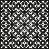 Черно-белая безшовная этническая картина Стоковая Фотография