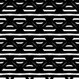 Черно-белая безшовная этническая картина Стоковое Фото