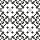 Черно-белая безшовная этническая картина Стоковая Фотография RF