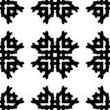 Черно-белая безшовная этническая картина Стоковые Изображения RF