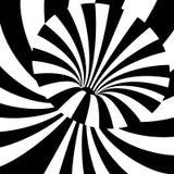 Черно-белая волна выравнивает предпосылку абстрактный иллюзион оптически Стоковые Фотографии RF
