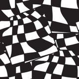 Черно-белая геометрическая абстрактная безшовная картина Иллюстрация вектора, обман зрения Striped простые линии, гипнотическое в Стоковое Изображение