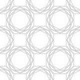 Черно-белая геометрическая безшовная картина для книжка-раскраски, страницы Абстрактная предпосылка для крышки, обоев, оформления Стоковые Фото
