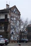 Черно-белая еврейская настенная роспись в Kazimierz в Кракове Стоковые Фото