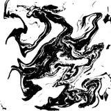 Черно-белая жидкостная текстура, иллюстрация акварели нарисованная рукой мраморизуя, абстрактная предпосылка также вектор иллюстр иллюстрация вектора