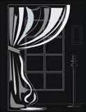 Черно-белая иллюстрация интерьера Стоковая Фотография RF
