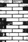 Черно-белая картина кирпичной стены как предпосылка стоковое изображение