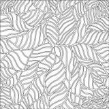 Черно-белая картина с абстрактными волнами Стоковые Изображения RF
