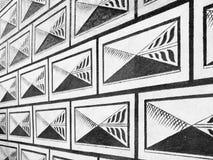 Черно-белая картина sgraffito письма ренессанса фасада стоковая фотография