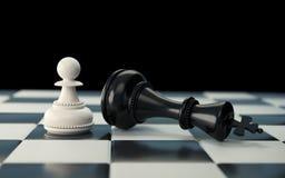 Черно-белая концепция шахматной фигуры для дела бесплатная иллюстрация