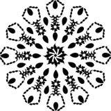 Черно-белая мандала, абстрактная предпосылка вектора и безшовный дизайн картины повторения бесплатная иллюстрация