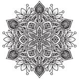 Черно-белая мандала иллюстрация штока