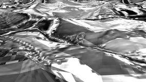 Черно-белая низкая поли предпосылка конспекта моря Плавно loopable иллюстрация вектора