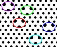 Черно-белая поставленная точки предпосылка имея красочный компьютер панд произвела дизайн иллюстрации бесплатная иллюстрация