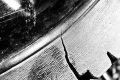 Черно-белая предпосылка grunge поврежденного макроса ботинка стоковая фотография