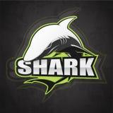 Черно-белая эмблема акулы стоковое фото rf