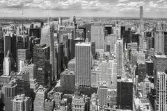 Черно-белое изображение Манхаттана, NYC стоковое фото rf