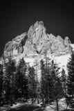 Черно-белое изображение ряда Tofane, ` Ampezzo Cortina d, стоковая фотография rf