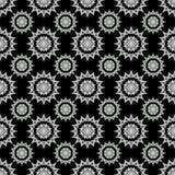Черно-белое легкое безшовное patern Стоковые Изображения RF