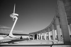 Черно-белое ультракрасное фото, Испания, Барселона, площадь Европа стоковая фотография rf