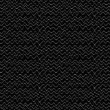 Черно-белые волны, backgrownd зигзага контура нарисованное рукой безшовное Стоковая Фотография