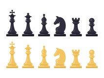 Черно-белые диаграммы шахматов вектор бесплатная иллюстрация