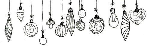 Черно-белые игрушки мех-дерева стоковые фотографии rf