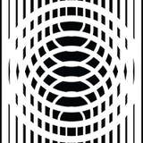 Черно-белые круговые линии иллюстрация вектора