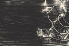 Черно-белые орнаменты рождества фото Стоковое Фото