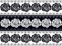 Черно-белые розы вектор иллюстрация штока