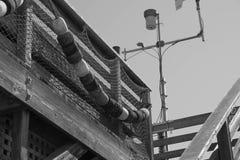 Черно-белые томбуи Стоковая Фотография