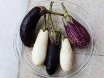 Черно-белые aubergines Стоковая Фотография RF