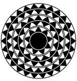 Черно-белый абстрактный круг Стоковая Фотография
