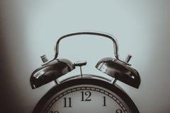 черно-белый будильник Стоковое Изображение RF
