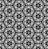 Черно-белый вектор картины повторения и безшовное фоновое изображение иллюстрация штока
